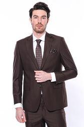 4 Drop Klasik Kesim Kahverengi Takım Elbise | Wessi - Thumbnail