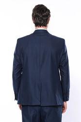 Wessi Erkek Lacivert Klasik Kesim Çift Düğme Takım Elbise - Thumbnail