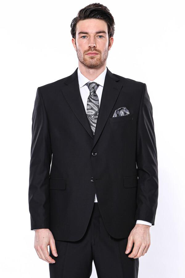 4 Drop Klasik Kesim Siyah Takım Elbise | Wessi