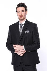 4 Drop Klasik Kesim Siyah Takım Elbise | Wessi - Thumbnail