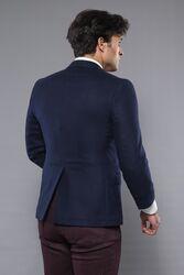 4 Drop Navy Blue Wool Jacket | Wessi - Thumbnail
