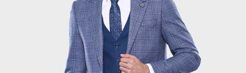 Navy Blue Suit - Wessi