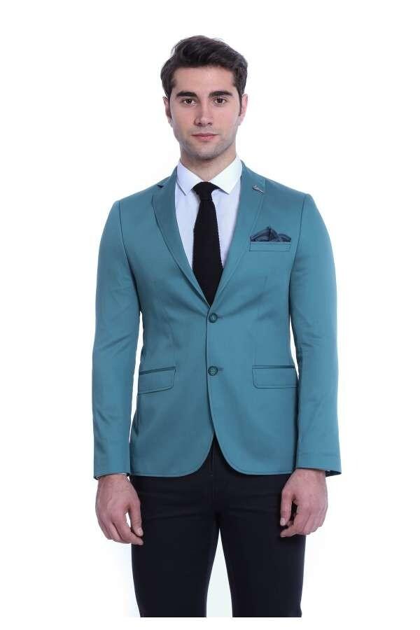 Acun Yaka Pamuk Yeşil Ceket