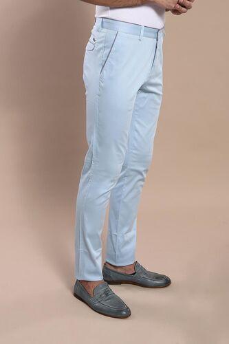 Arka Cep Kapaklı Mavi Pamuk Pantolon | Wessi