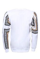 Baskılı Beyaz Bisiklet Yaka Sweatshirt - Thumbnail