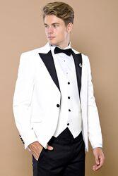 Beyaz Damatlık Takım Elbise | Wessi - Thumbnail