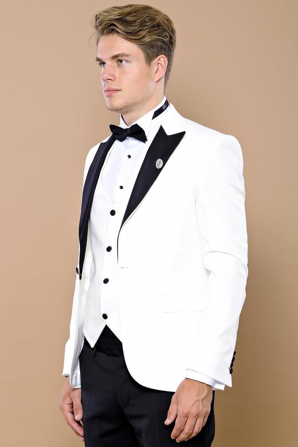 Beyaz Damatlık Takım Elbise | Wessi
