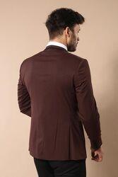 Ceket Desenli Bordo Damatlık | Wessi - Thumbnail