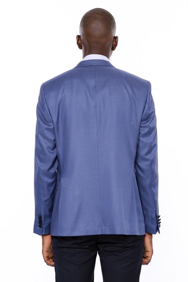 Ceket Desenli Mavi Erkek Damatlık | Wessi
