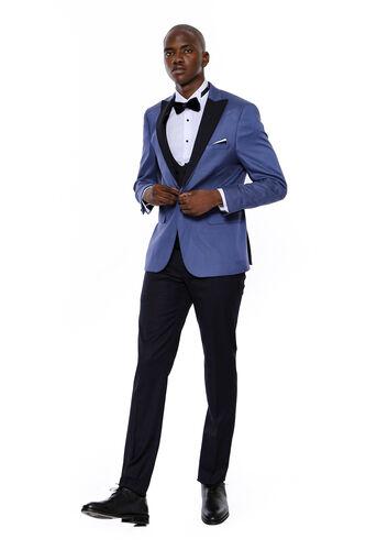Ceket Desenli Lacivert Erkek Damatlık | Wessi