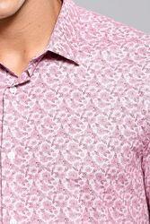 Çiçek Desenli Bordo Uzun Kollu Gömlek | Wessi - Thumbnail