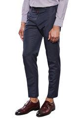 Çizgili Kumaş Lacivert Pantolon | Wessi - Thumbnail
