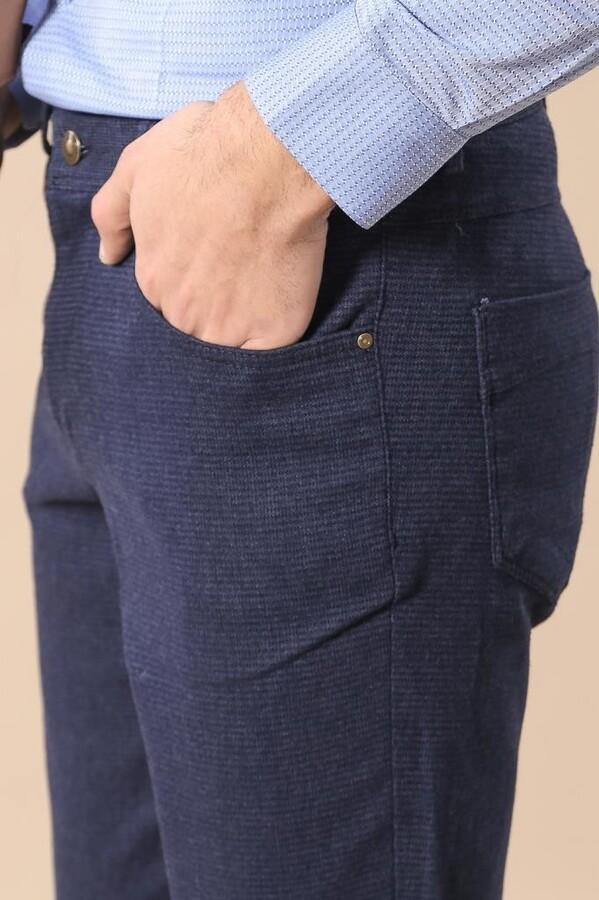 Lacivert Dar Kesim Pantolon | Wessi