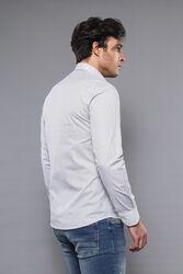 Desenli Beyaz Uzun Kollu Gömlek | Wessi - Thumbnail