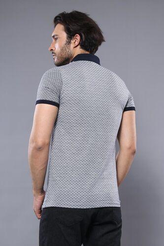 Desenli Gri Polo Yaka T-shirt   Wessi