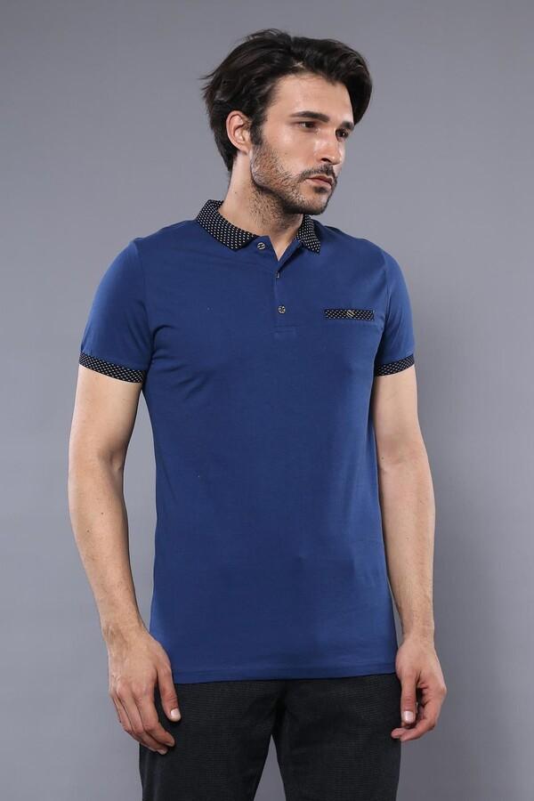 Polo Yaka Mavi T-shirt | Wessi