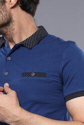 Polo Yaka Mavi T-shirt | Wessi - Thumbnail