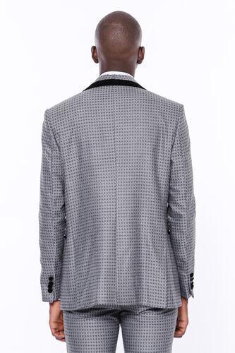 Desenli Yelekli Füme Damatlık Takım Elbise | Wessi