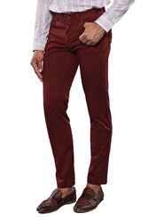 Düz Bordo Beş Cepli Pantolon | Wessi - Thumbnail