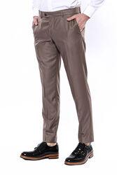 Düz Kahverengi Kumaş Pantolon | Wessi - Thumbnail