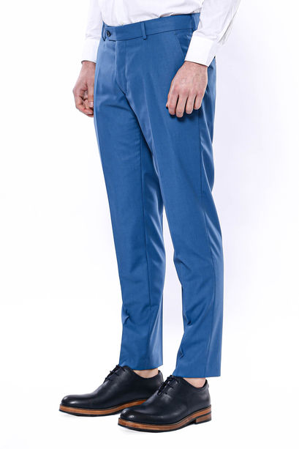 Düz Kumaş Mavi Pantolon | Wessi