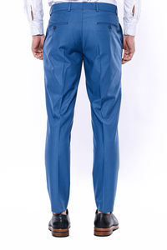 Düz Kumaş Mavi Pantolon | Wessi - Thumbnail