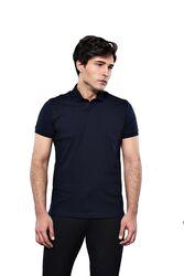 Polo Yaka Düz Lacivert T-shirt | Wessi - Thumbnail