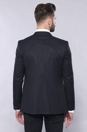 Düz Koyu Lacivert Slim Fit Ceket Yelek Set | Wessi
