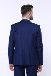 Düz Lacivert Yelekli Takım Elbise   Wessi - Thumbnail