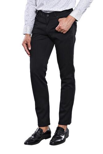 Düz Siyah Beş Cepli Pantolon | Wessi