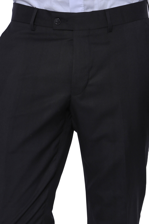 Düz Siyah Kumaş Pantolon   Wessi