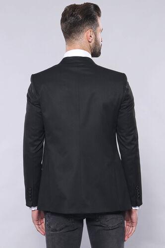 Düz Siyah Slim Fit Yelek Ceket Set | Wessi