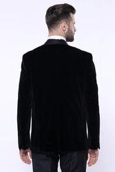 Düz Siyah Velvet Ceket | Wessi - Thumbnail