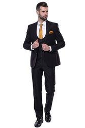 Düz Yelekli Koyu Kahverengi Takım Elbise | Wessi - Thumbnail
