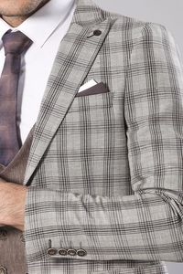 Ekose A.Kahve Takım Elbise | Wessi - Thumbnail