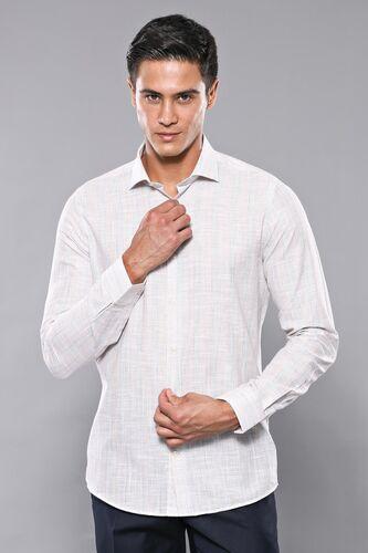 Ekose Bej Desenli Uzun Kollu Gömlek | Wessi