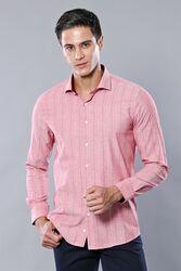 Ekose Desen Bordo Uzun Kollu Gömlek | Wessi - Thumbnail