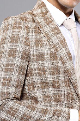 Ekose Desen Bej Slim Fit Ceket | Wessi