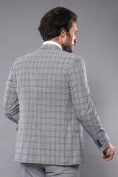 Ekose Slim Fit Yelekli Takım Elbise | Wessi - Thumbnail
