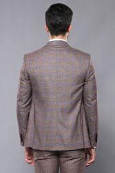 Ekose Kahverengi Kombinli Spor Yelekli Takım Elbise | Wessi - Thumbnail