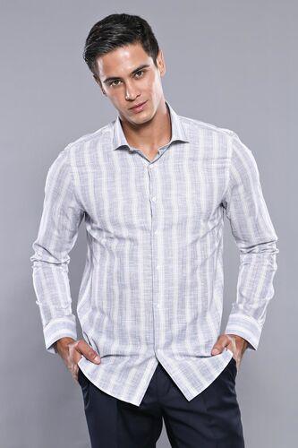 Ekose Lacivert Desenli Uzun Kollu Gömlek   Wessi