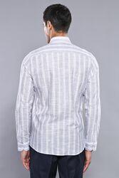 Ekose Lacivert Desenli Uzun Kollu Gömlek   Wessi - Thumbnail