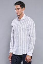 Ekose Lacivert Desenli Uzun Kollu Gömlek | Wessi - Thumbnail