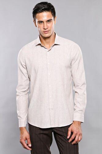 Ekose Desenli Bej Uzun Kollu Gömlek | Wessi