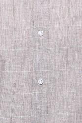 Ekose Desenli Bej Uzun Kollu Gömlek | Wessi - Thumbnail