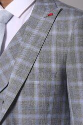Ekose Yelekli Gri Takım Elbise | Wessi - Thumbnail