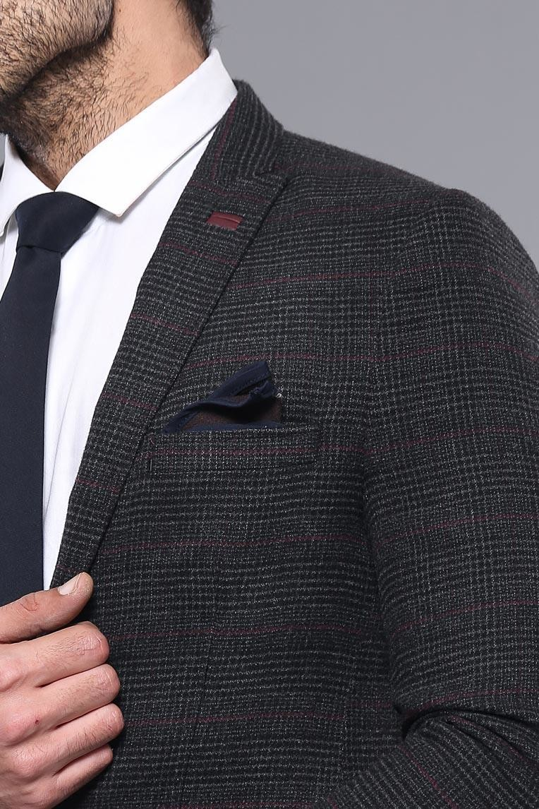 Black Checked Sport Coat | Wessi
