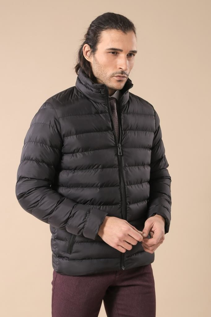 Black Short Men Down Jacket | Wessi