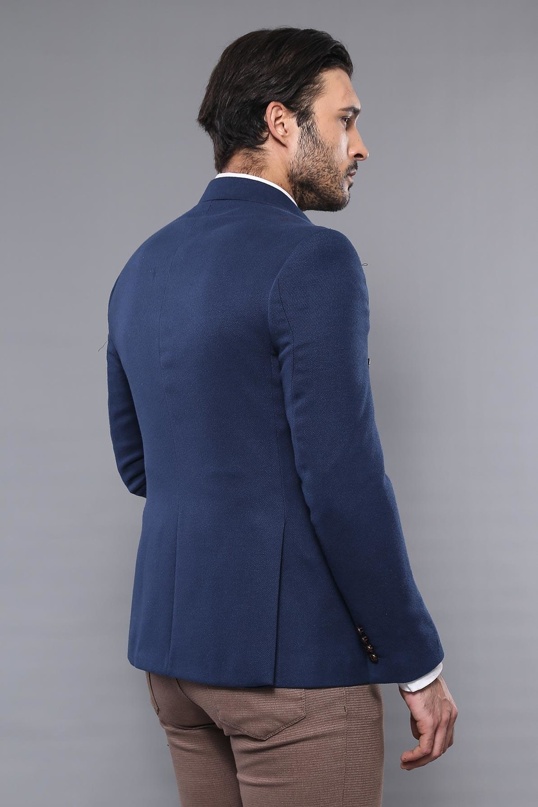 Blue Double Breasted Blazer | Wessi