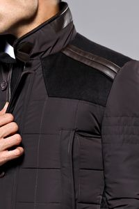 Brown Quilted Coat | Wessi - Thumbnail